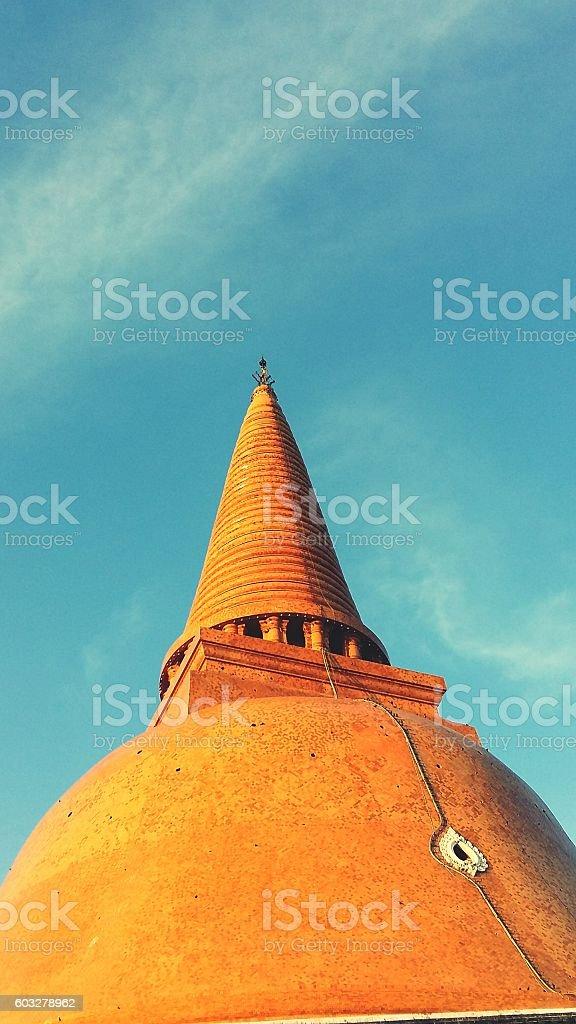 Phra Pathom Chedi in Nakhon Pathom stock photo