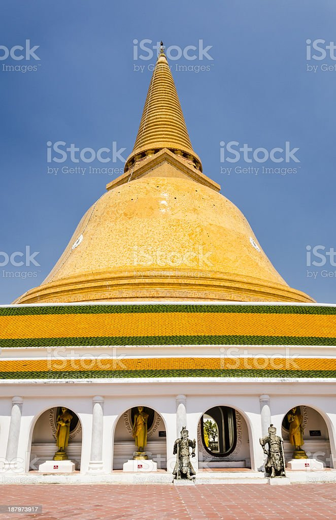 Phra Pathom Chedi in Thailand stock photo