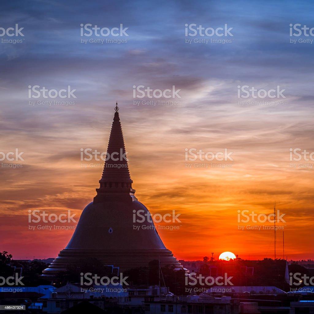 Phra Pathom Chedi is the landmark of bangkok province (Thailand) stock photo