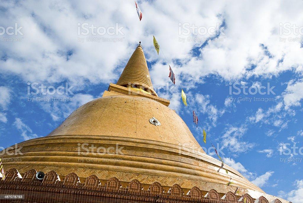 Phra Pathom Chedi Pagoda Base stock photo
