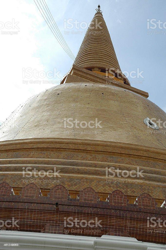 Phra Pathom Chedi Pagoda stock photo