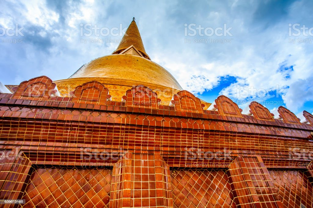 Phra Pathom Chedi stock photo