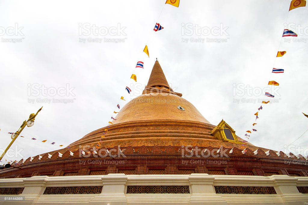 Phra Pathom Chedi temple in Nakhon Pathom Province, Thailand. stock photo