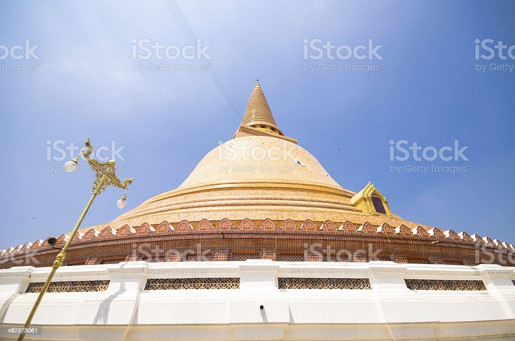 Phra Pathom Chedi temple in  Thailand. stock photo