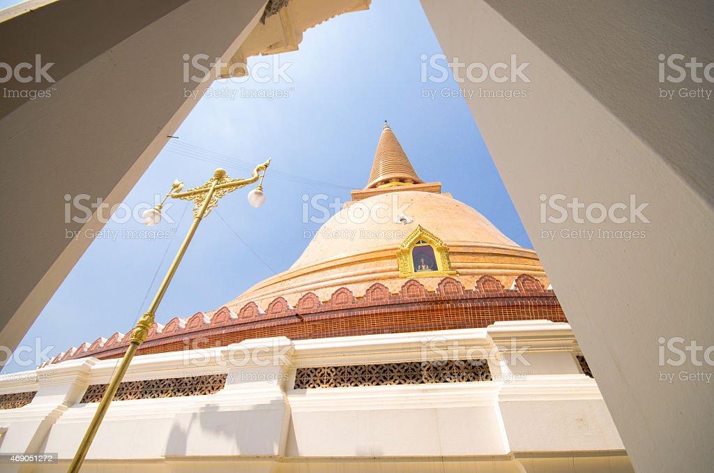 Phra Pathom Chedi temple  Thailand. stock photo