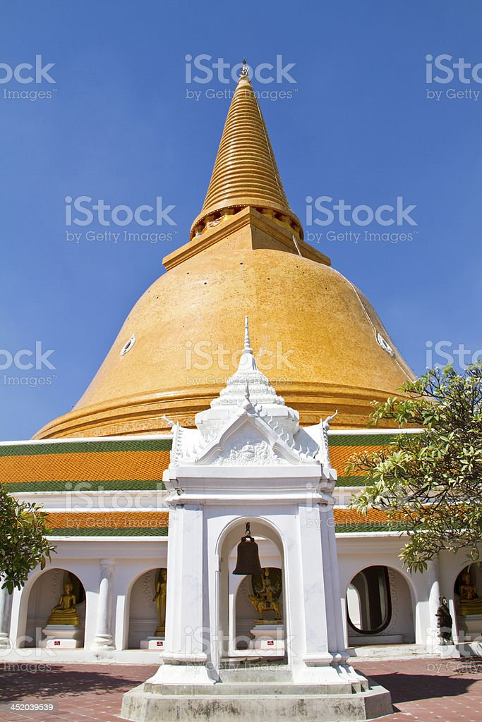 Phra Pathom Chedi, Thailand. stock photo