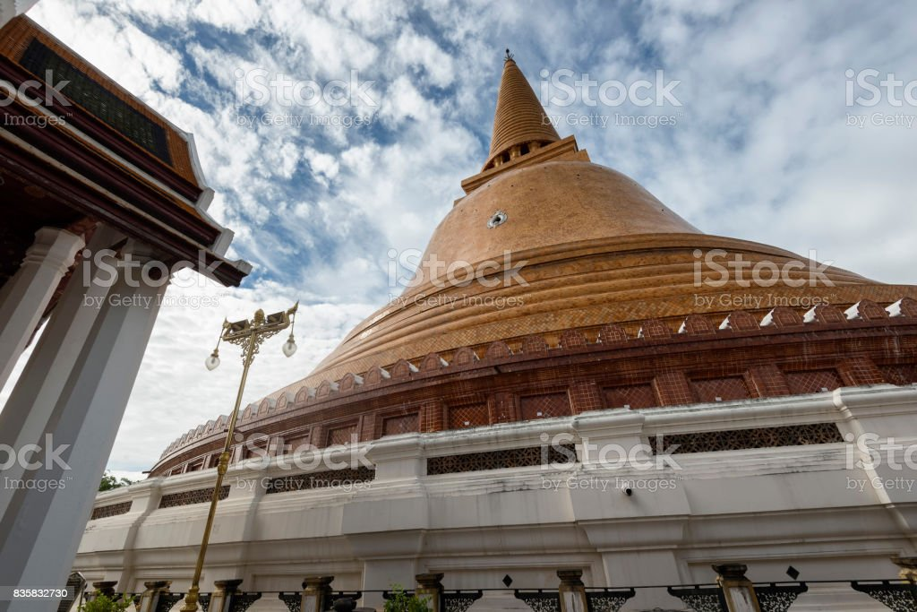 Phra Pathom Chedi, the most famous landmark of Nakhon Pathom, Thailand stock photo