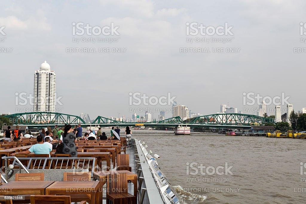 Phra Phuttayotfa Bridge stock photo