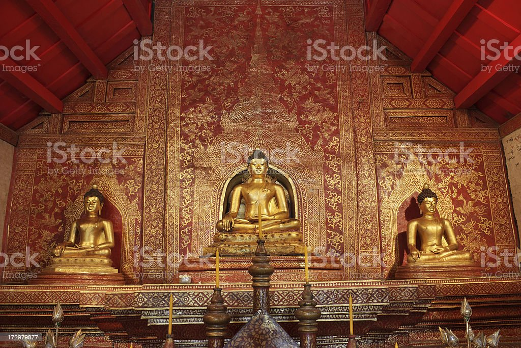 Phra phuttha Sihing royalty-free stock photo