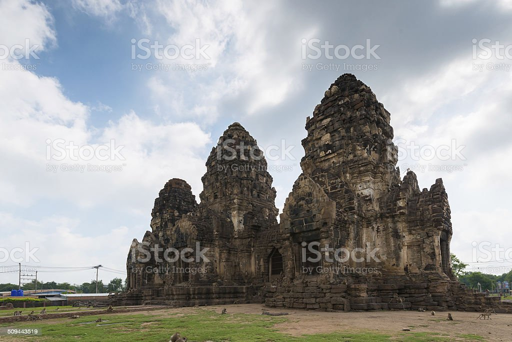 Phra Prang Sam Yot stock photo