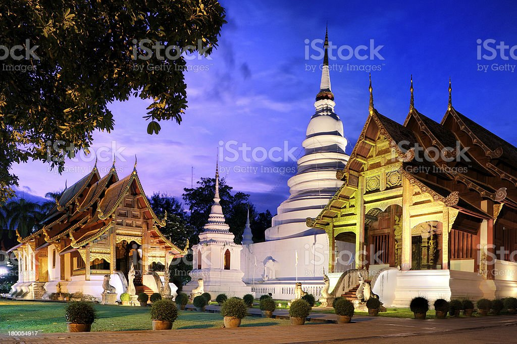 Phra Singh temple royalty-free stock photo