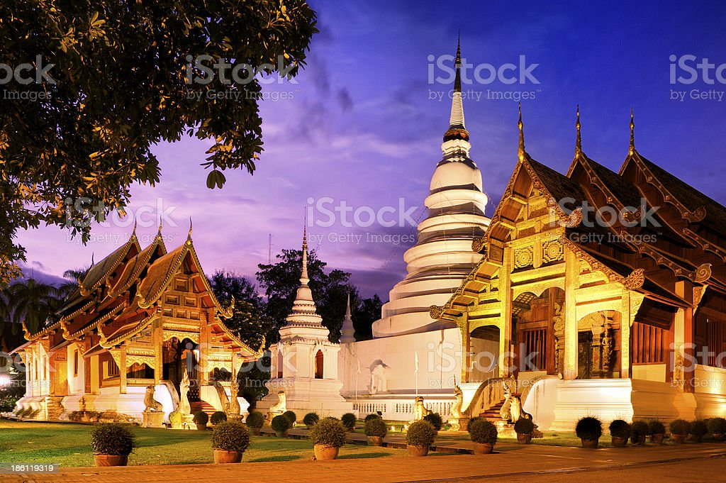 Phra Singh temple royalty-free stock photo