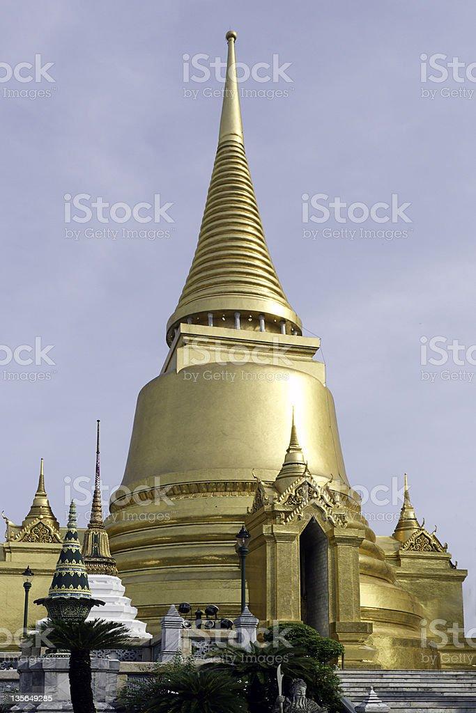 Phra Sri Rattana (Golden Chedi) at the Grand Palace, Bangkok royalty-free stock photo