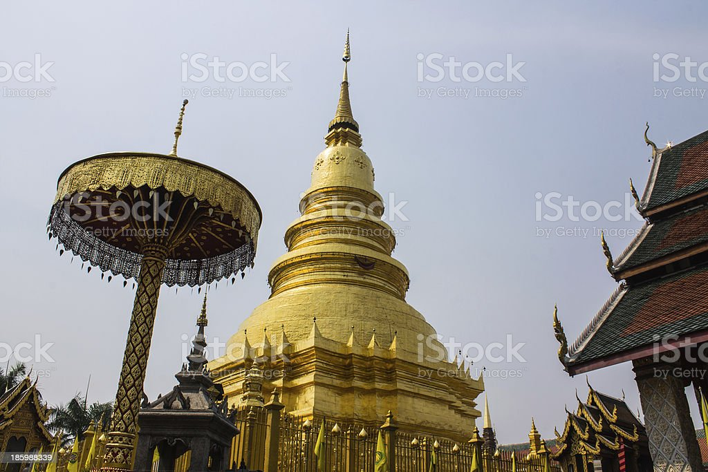 Phra That Hariphunchai royalty-free stock photo