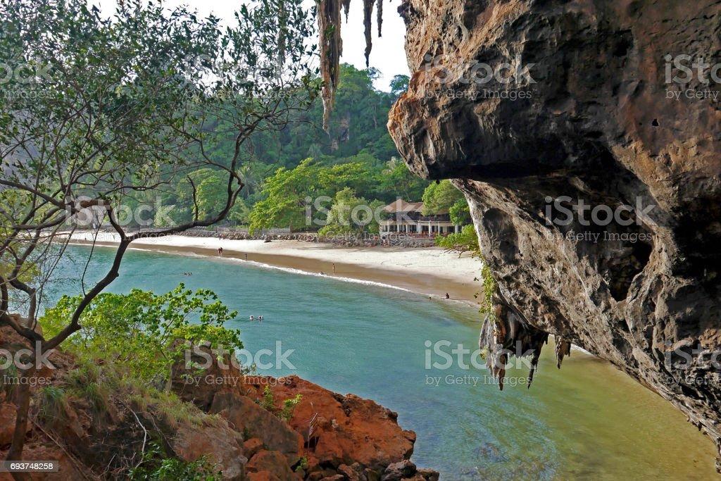 Phranang Cave Beach, Thailand. stock photo