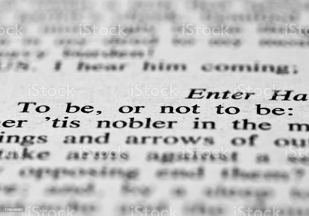Phrase from Hamlet royalty-free stock photo