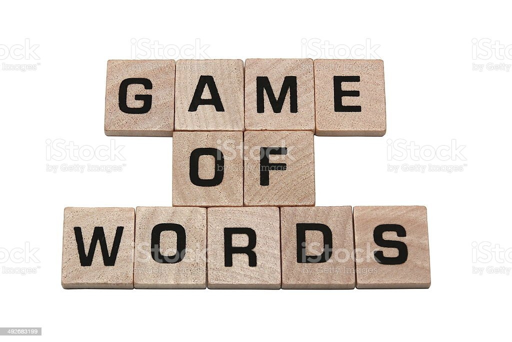 Phrase game of words made with tiles stock photo
