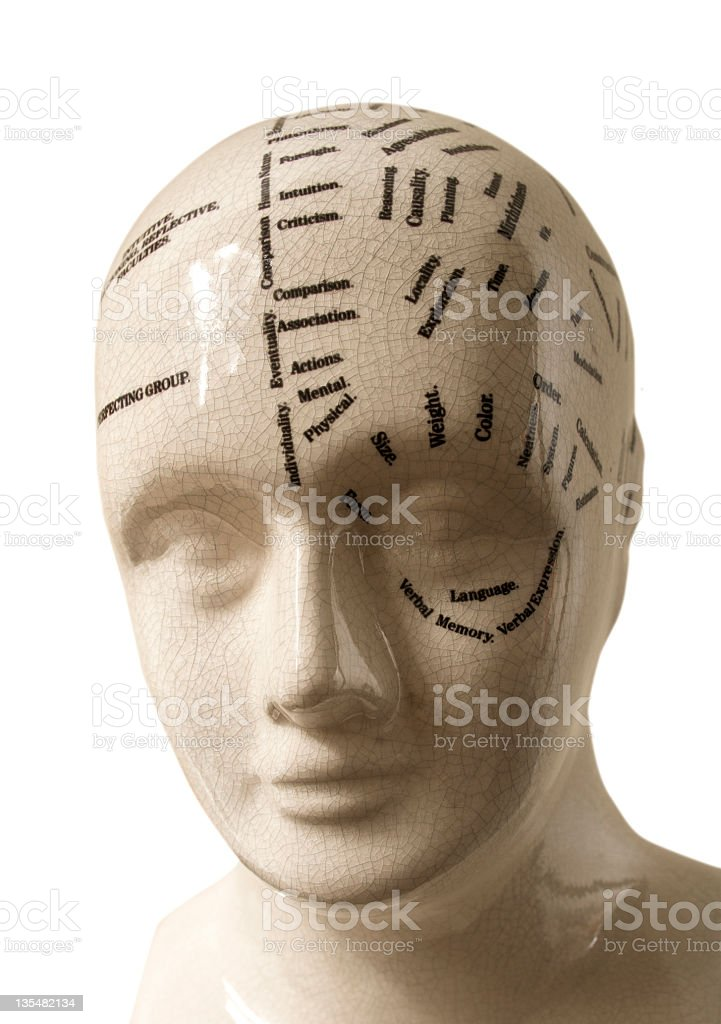 phrenology head. Mental health royalty-free stock photo