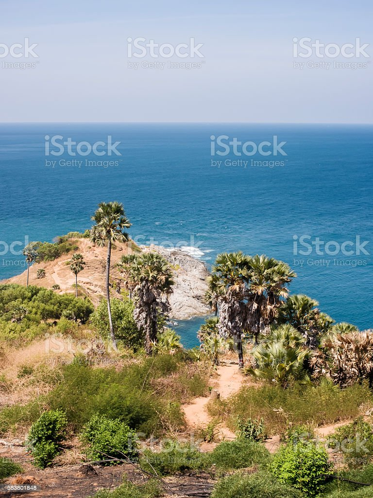 Phromthep Cape. stock photo