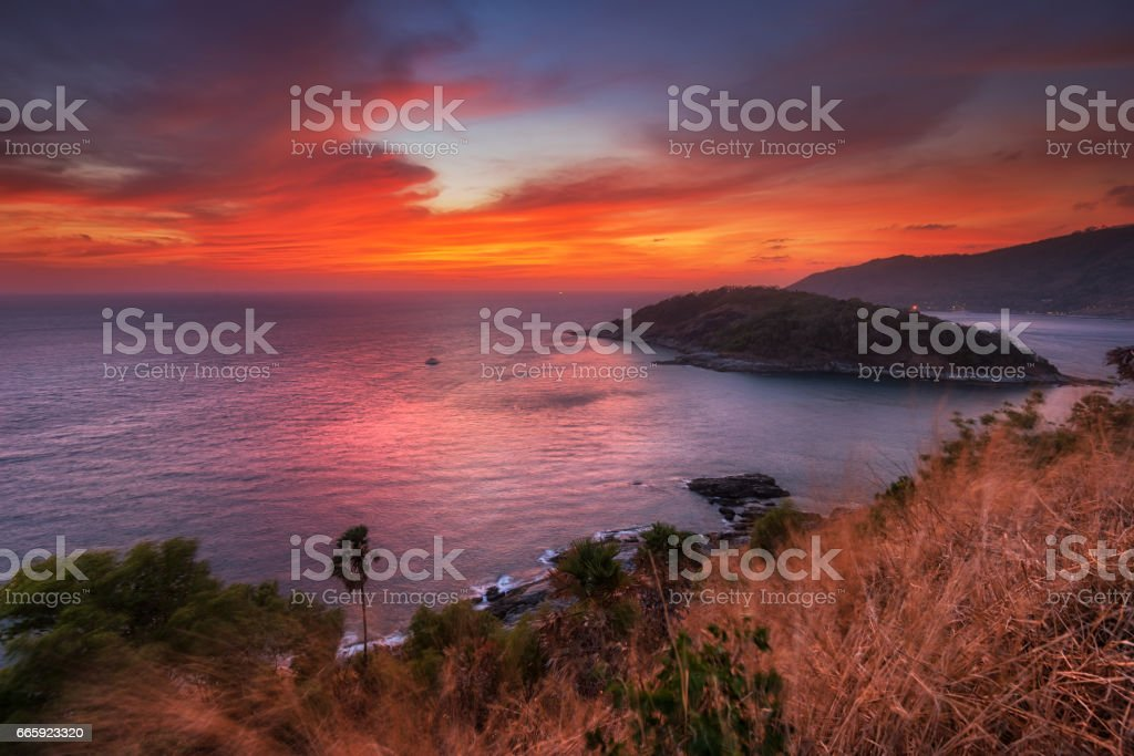 Phromthep Cape stock photo
