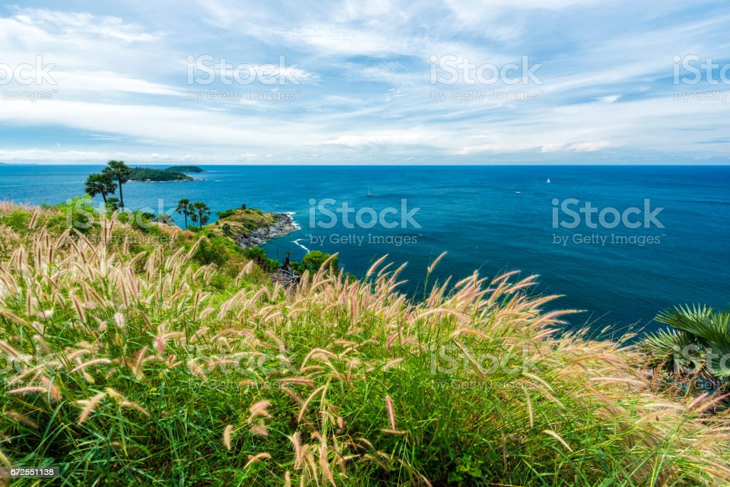 Phromthep cape viewpoint in Phuket,Thailand stock photo