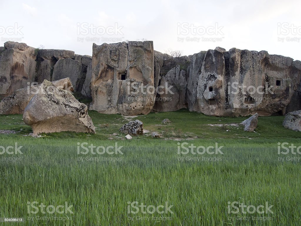 Phrygian Valley in Turkey  . Midas city, Eskisehir. stock photo