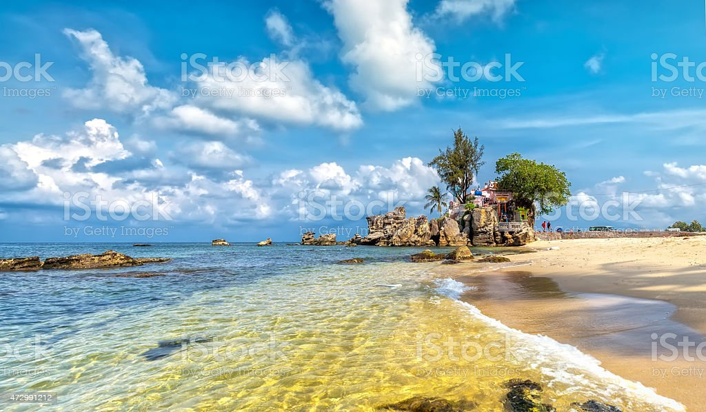 Phu Quoc Sea on sunny day stock photo