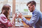 phubbing, internet addiction, social network concept