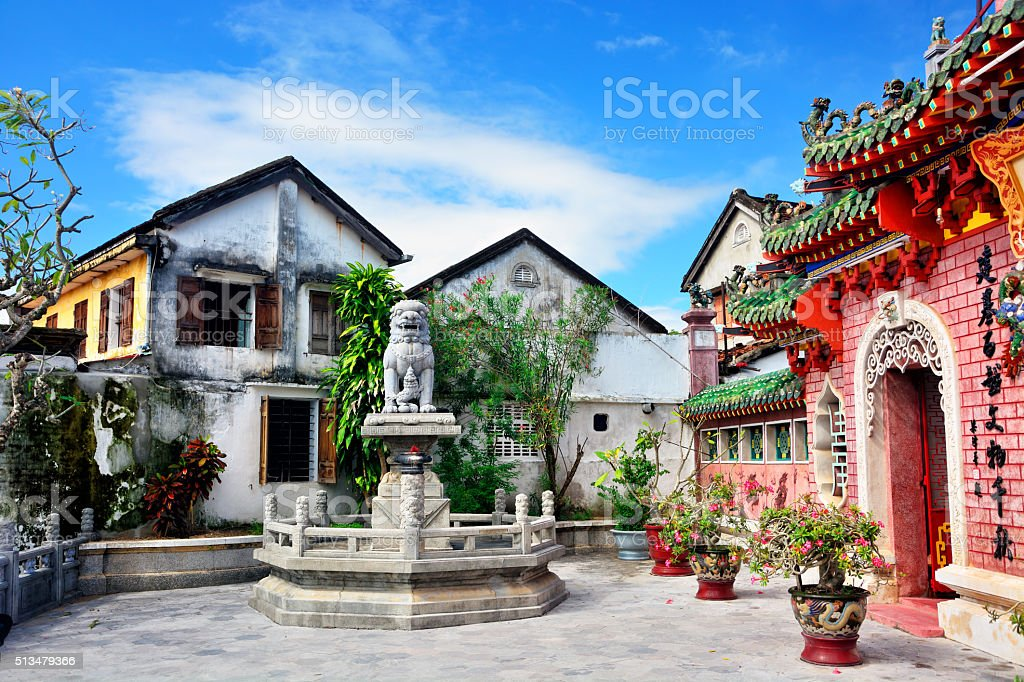 Phuc Kien Assembly Hall, Vietnan stock photo
