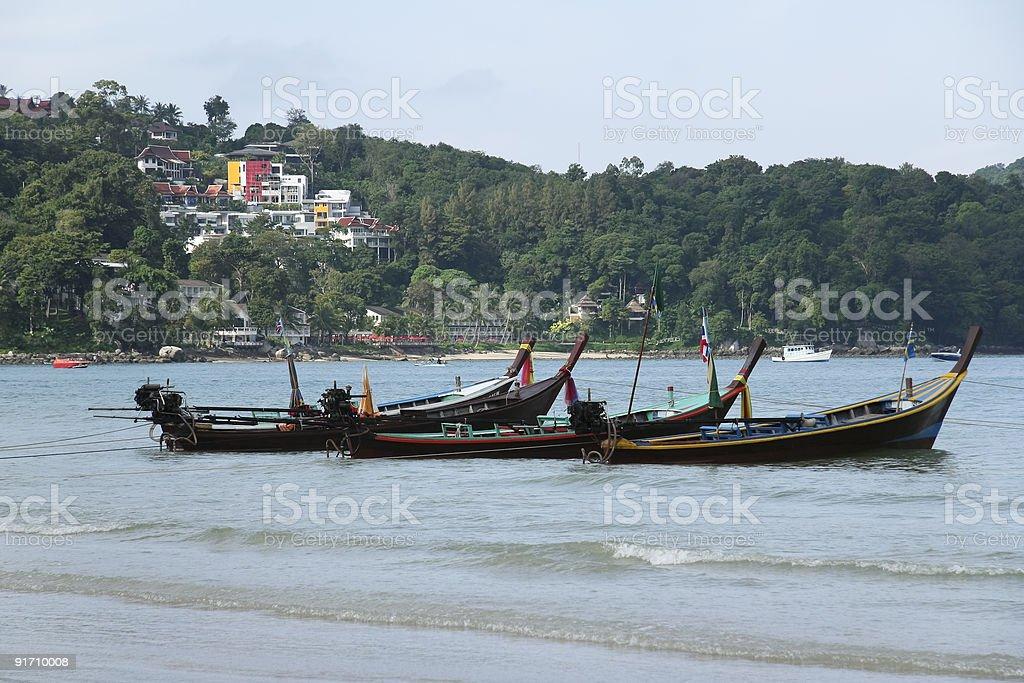 phuket longtails patong beach thailand royalty-free stock photo