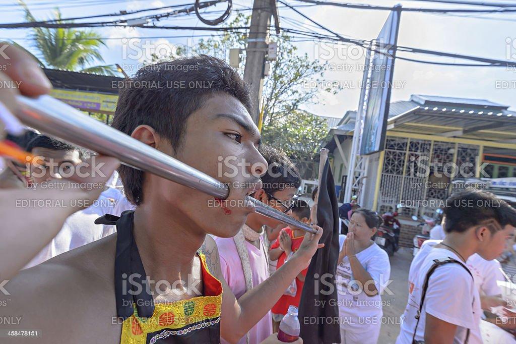 Phuket Province vegetarian festival royalty-free stock photo