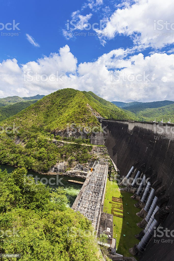 Phumiphol dam in Tak, thailand royalty-free stock photo