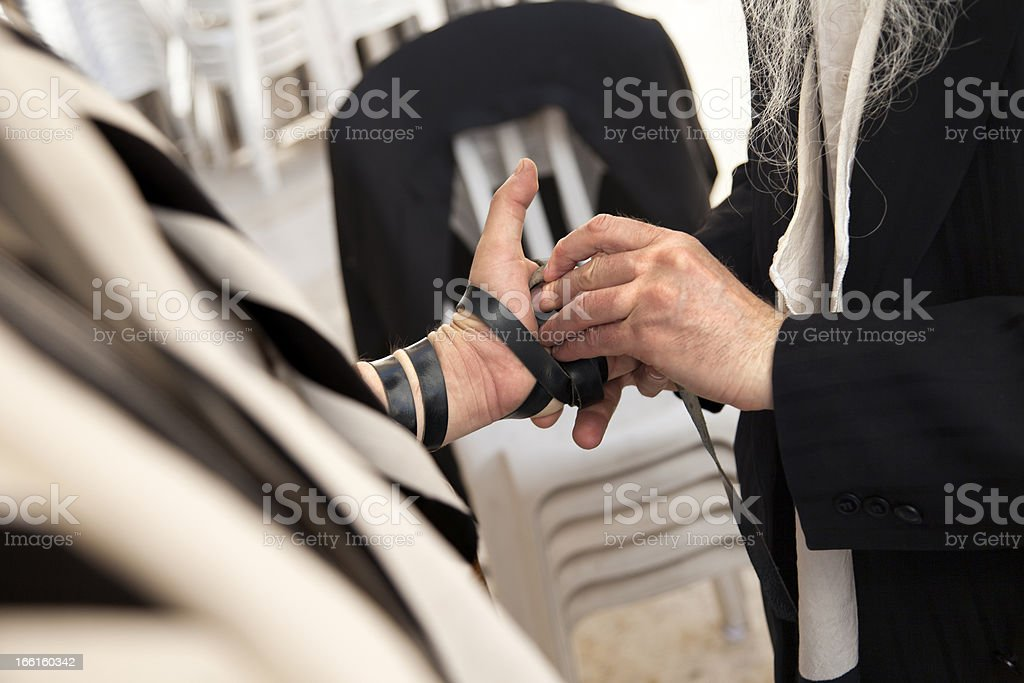 Phylacteries Ceremony Close-Up royalty-free stock photo