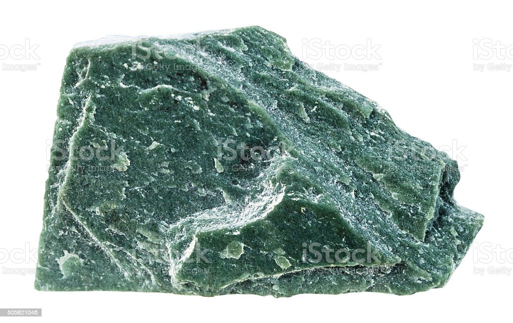 Phyllite mineral stone isolated on white stock photo