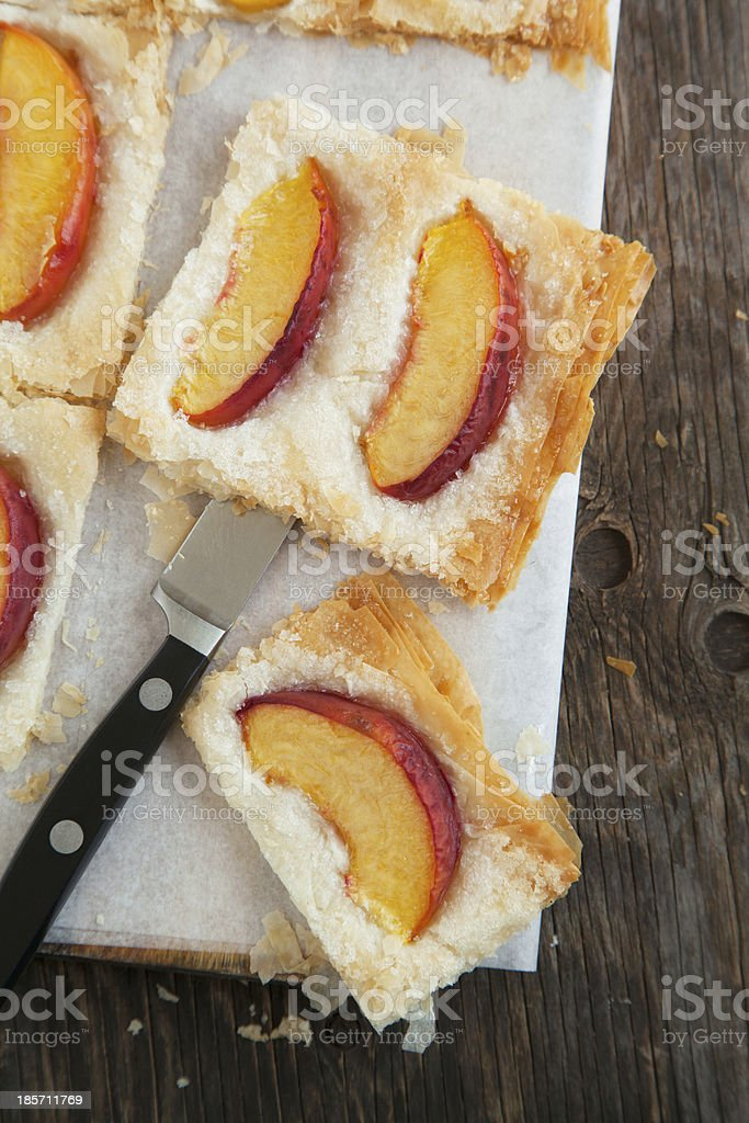 Phyllo Tart with Sugared Peashes royalty-free stock photo