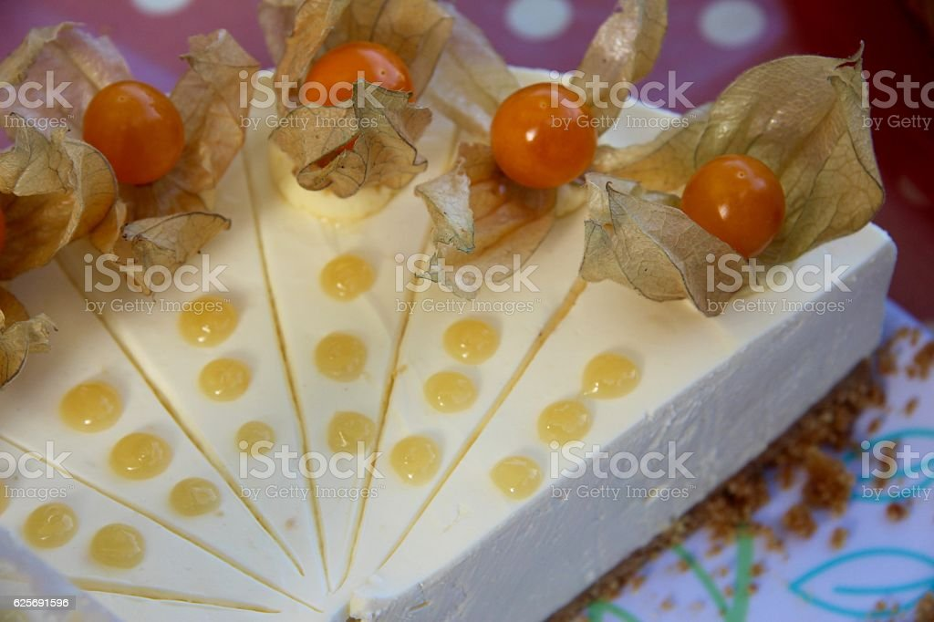 Physalis Cheesecake stock photo