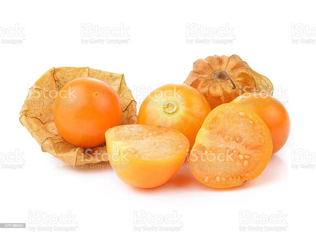 Physalis fruit on a white background stock photo