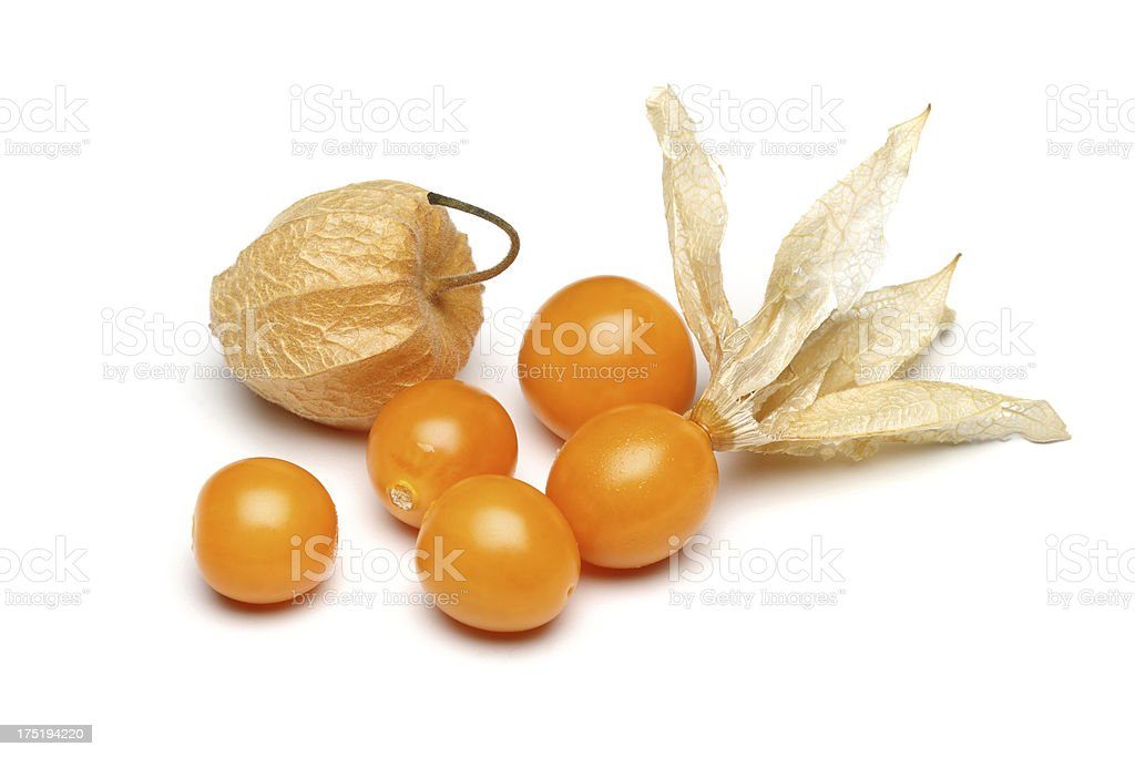 Physalis fruits stock photo