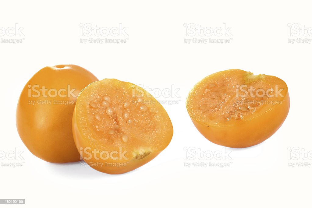 Physalis fruits, isolated. stock photo