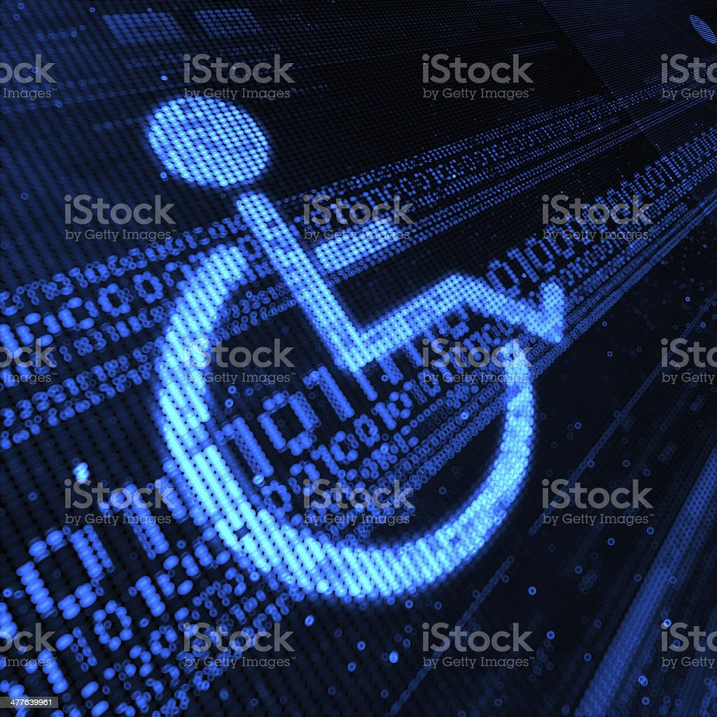 physical disability royalty-free stock photo