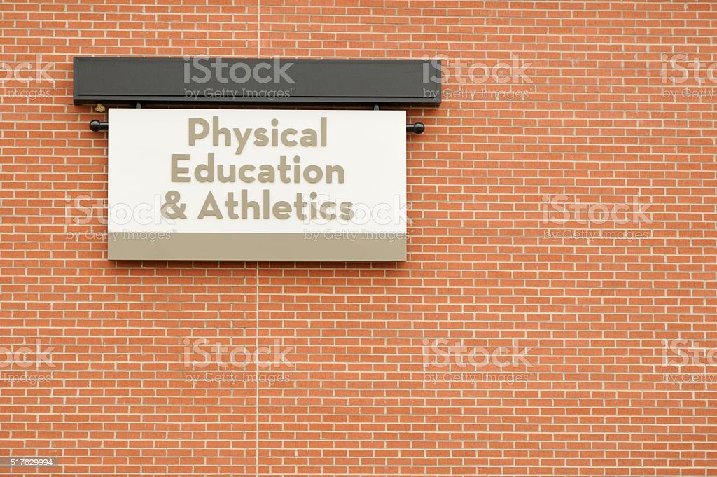 Physical education and athletics stock photo