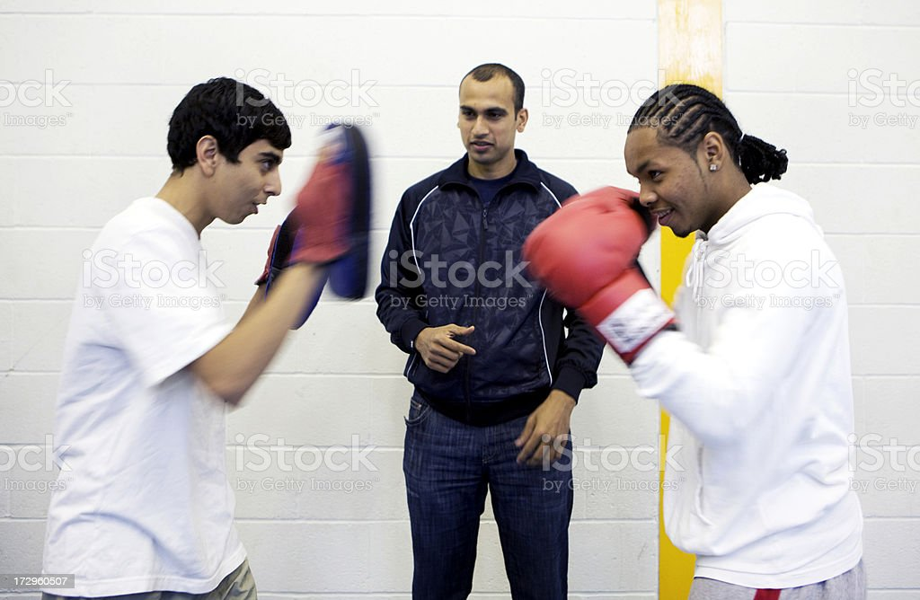 physical education: boxing royalty-free stock photo