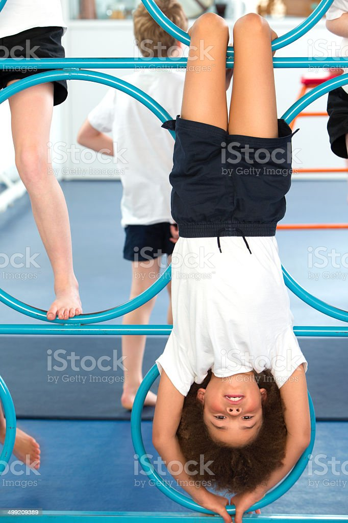 Physical Education In School royalty-free stock photo