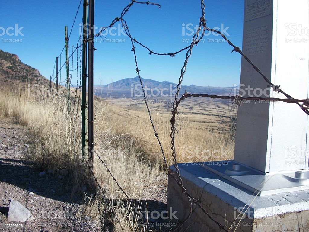 Physical Security on The US/Mexico Border stock photo
