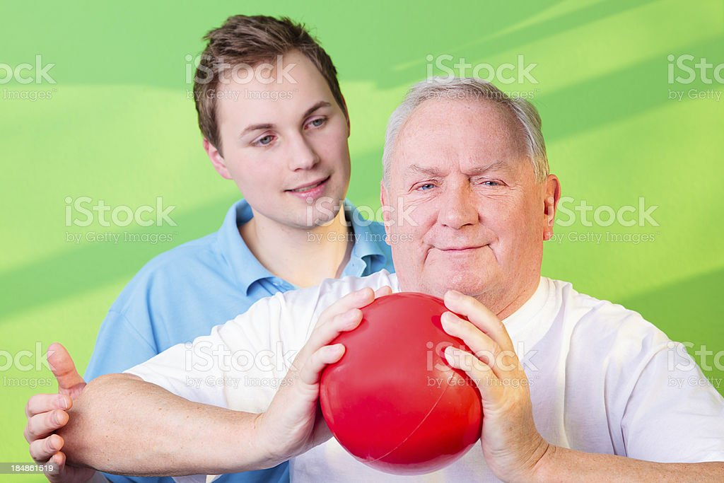 Physical Therapist and Patient royalty-free stock photo