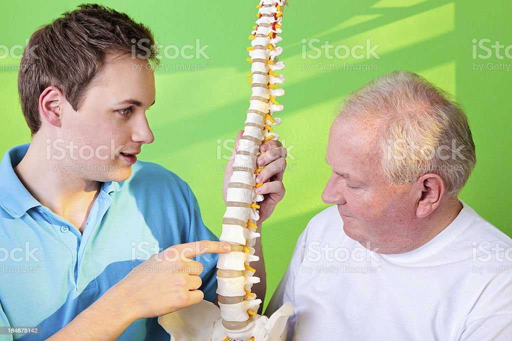 Physical Therapist and Patient stock photo