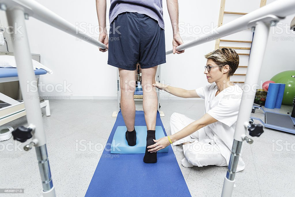 Physical therapist stock photo