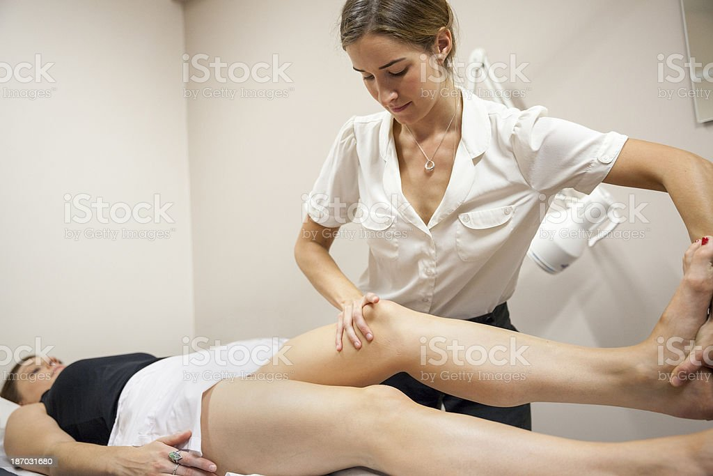 Physical Therapist Series: leg and hip royalty-free stock photo