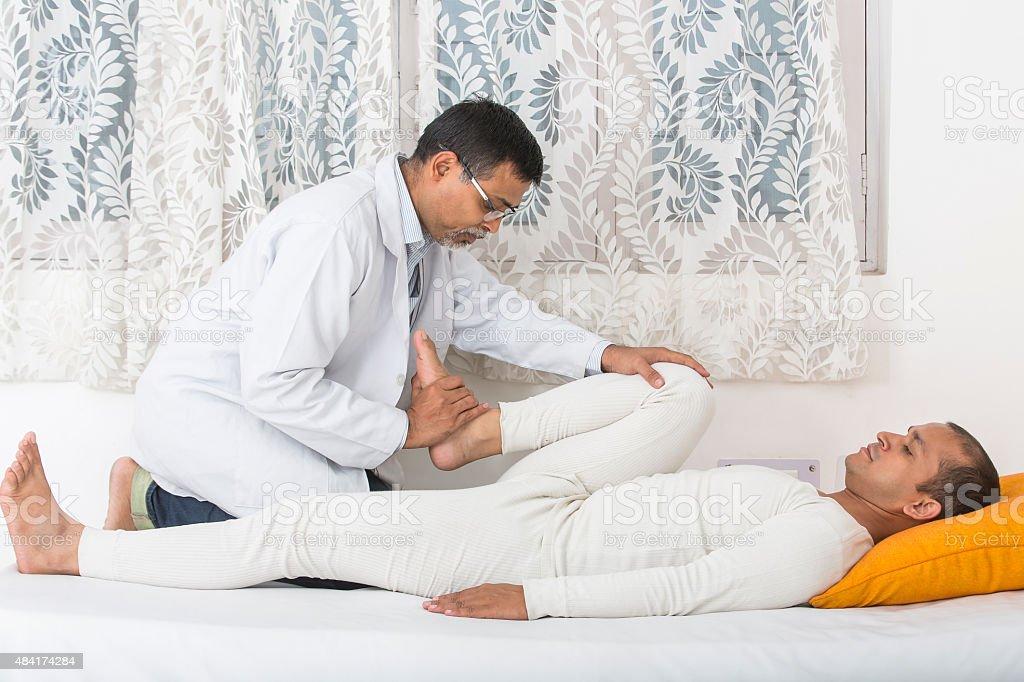 Physical Therapist Series: Leg exercise stock photo