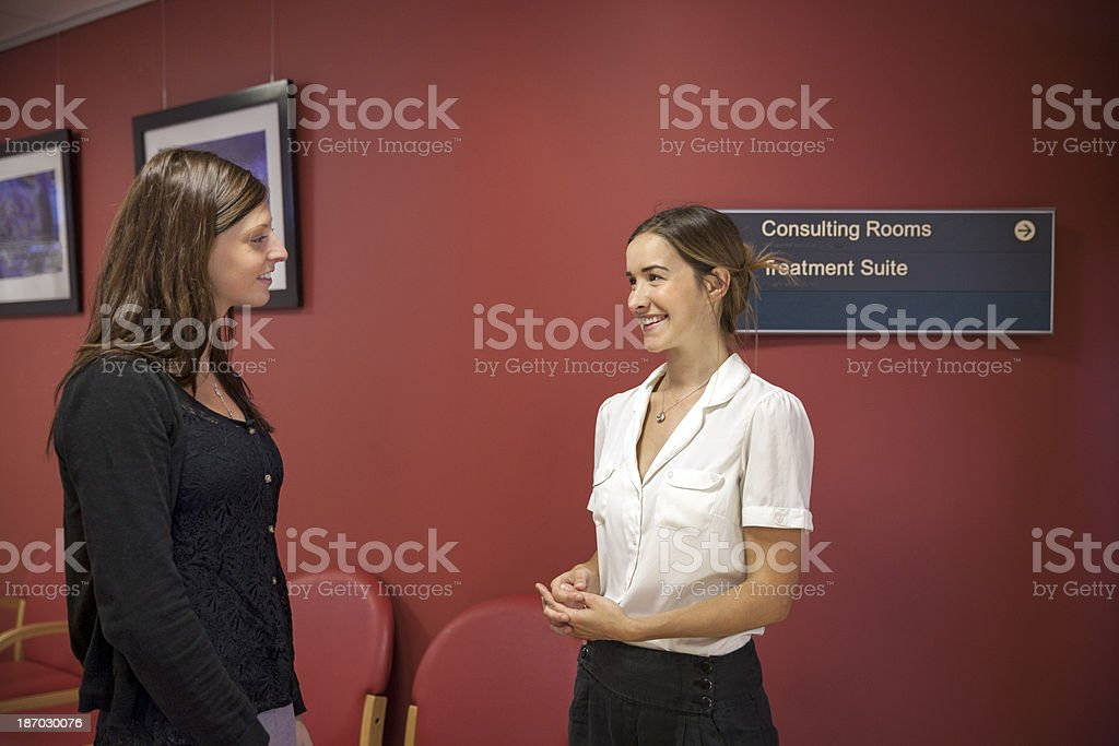 Physical Therapist Series: meeting the patient royalty-free stock photo
